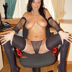 Pantyhose-Stockings brunette.
