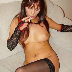 Pantyhose-Stockings brown.