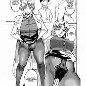 Ritsuko gives Shinji Ikari take up with the tongue her fur pie throughout pantyhose.