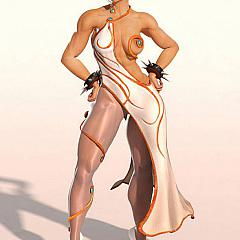 Pantyhose-Stockings street-fighter.