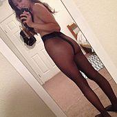 Beauties previous mirror pantyhose.