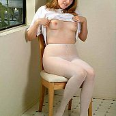 Pantyhose amateur girls.