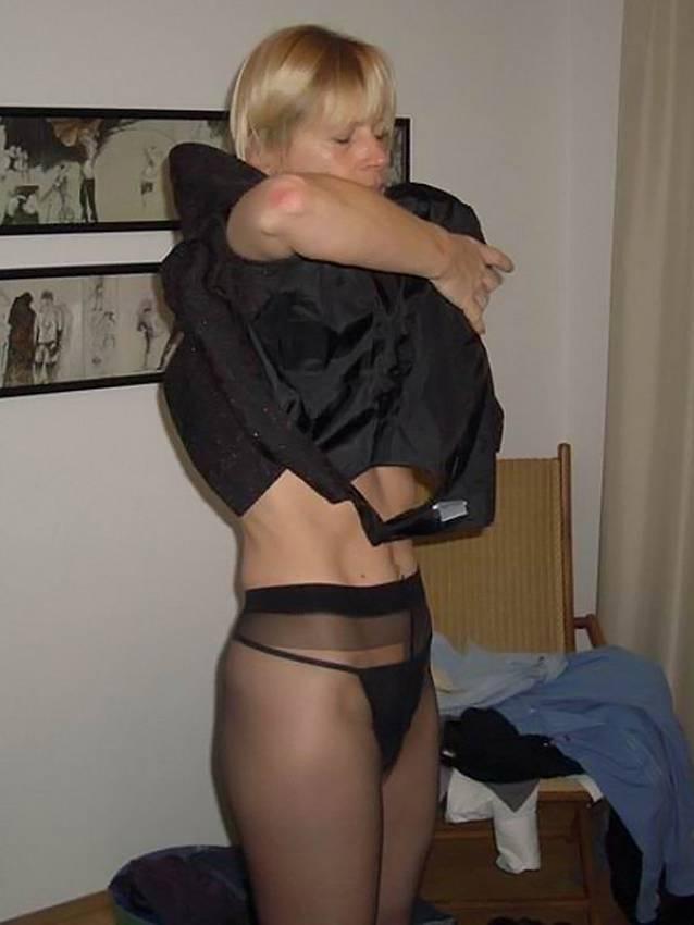 Pantyhose nylon wives short hair