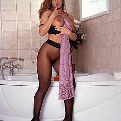 Pantyhose-Stockings bathroom.