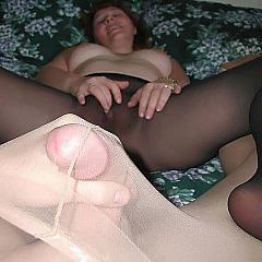 Pantyhose-Stockings excited.