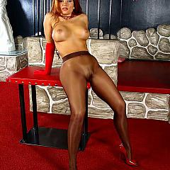 Pantyhose-Stockings brown.